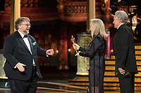 Warren Beatty and Faye Dunaway present the Oscar&reg; for best motion picture of the  year to Guillermo del Toro for work on &quot;The Shape Of Water&quot; during the live ABC Telecast of The 90th Oscars&reg; at the Dolby&reg; Theatre in Hollywood, CA on Sunday, March 4, 2018.<br /> *Editorial Use Only*<br /> CAP/PLF/AMPAS<br /> Supplied by Capital Pictures