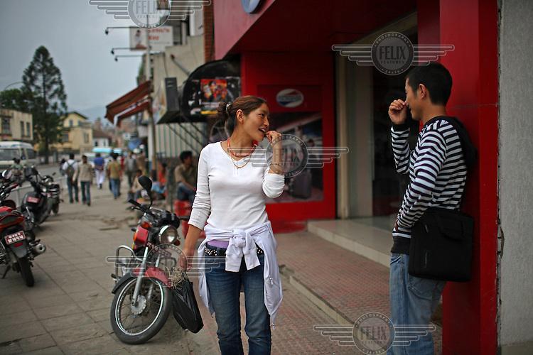 Young people in Kathmandu.