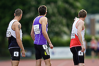 18 MAY 2008 - LOUGHBOROUGH, UK - Mens 4 x 400m Relay - Loughborough International Athletics. (PHOTO (C) NIGEL FARROW)