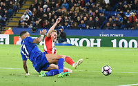 Danny Simpson of Leicester City during the Premier League match between Leicester City v Sunderland played at King Power Stadium, Leicester on 4th April 2017.<br /> <br /> <br /> available via IPS Photo Agency only