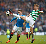 15.04.2018 Celtic v Rangers scottish cup SF:<br /> Josh Windass and Kristoffer Ajer