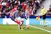 2nd December 2017, Wanda Metropolitano, Madrid, Spain; La Liga football, Atletico Madrid versus Real Sociedad; Willian Jose (12) of Real Sociedad  Grabiel Fenandez Arenas (14) of Atletico Madrid