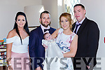 Ava Looney Rathmore celebrated her christening with her parents Ciara O'Connell ballaugh, Killarney and Con Looney Rathmore and god parents Aileen Moynihan and Damien O'Rahilly in the Torc Hotel on Sunday