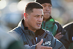 Manurewa Coach George Leaupepe. Counties Manukau Premier Club Rugby game between Wauku & Manurewa played at Waiuku on Saturday June 6th. Manurewa won 36 - 31 after leading 14 - 12 at halftime.