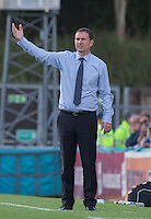Derek Adams manager of Plymouth Argyle during the Sky Bet League 2 match between Wycombe Wanderers and Plymouth Argyle at Adams Park, High Wycombe, England on 12 September 2015. Photo by Andy Rowland.