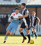 Christopher Routis fouls Josh Windass as the Rangers man breaks up the park