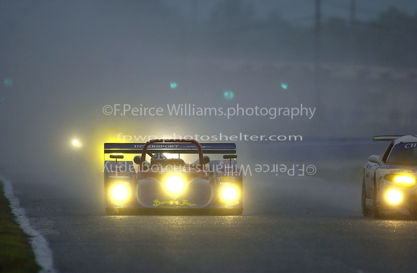 The #37 Intersport Lola runs in the early morning rain..39th Rolex 24 at Daytona, 3/4 February,2001 Daytona International Speedway  Daytona Beach,Florida,USA.©F.Peirce Williams 2001 ..