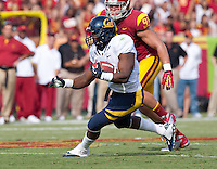 September 22, 2012: California's C.J. Anderson in runs down the field during a game against USC at the Los Angeles Memorial Coliseum, Los Angeles, Ca  USC defeated California 27- 9
