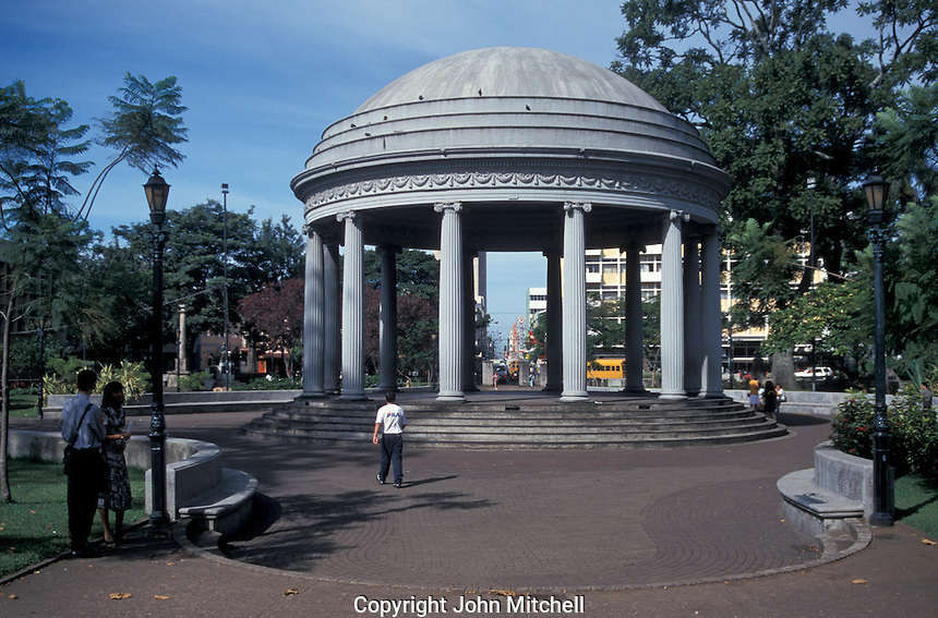 The Templo de Musica in Parque Morazan, San Jose Costa, Rica.