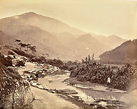 BNPS.co.uk (01202 558833)<br /> Pic: DominicWinterAuction/BNPS<br /> <br /> Rural idyll beside a brook in Happy Valley.<br /> <br /> Revealed - A fascinating photo album from the very early days of British Hong Kong...long before the skyscrapers covered it over.<br /> <br /> The 150 year old photos of Hong Kong taken by one of the first British photographers to venture to the Far East have emerged for sale for £15,000.<br /> <br /> John Thomson, who was also a geographer, left Edinburgh for Singapore in 1862 and spent the following decade travelling the region.<br /> <br /> He explored a decidely low-rise Hong Kong from 1868 to 1870, taking numerous pictures of the rapidly expanding settlement and its industrious inhabitants.<br /> <br /> They capture the area, which is currently engulfed in unrest and protest, at a far more tranquil time.<br /> <br /> The photos are being sold with auction house Dominic Winter, of Cirencester, Gloucs.