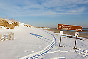 Parker River National Wildlife Refuge during the winter months. Located on Plum Island, Massachusetts, USA