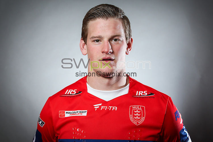 Picture by Alex Whitehead/SWpix.com - 15/01/2015 - Rugby League - First Utility Super League - Hull KR Media Day - KC Lightstream Stadium, Hull, England - Sonny Esslemont