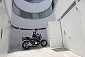 NE apartments, a 8-unit rental apartment complex designed by Japanese architects Yuji Nakae, Akiyoshi Takagi and Hirofumi Ohnoto to house motorcycle enthusiasts in Tokyo, with a built-in garage included in every unit.
