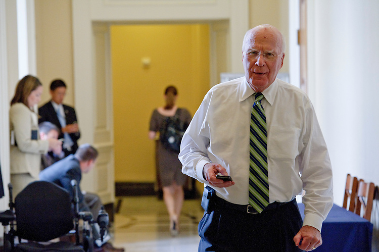 WASHINGTON, DC - August 03: Senate Judiciary Chairman Patrick J. Leahy, D-Vt., in the hallway outside the Senate Democratic policy luncheon. (Photo by Scott J. Ferrell/Congressional Quarterly)