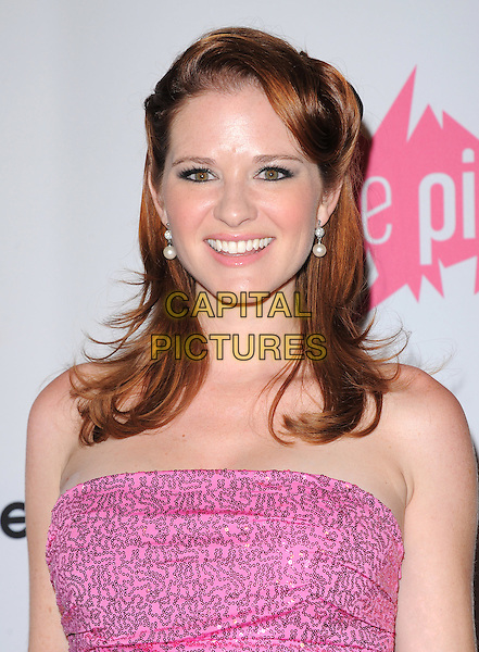 Sarah Drew Lanfer .attends The 7th Annual Pink Party held at Drai's Hollywood in Hollywood, California, USA, September 10th 2011.   .portrait headshot hair strapless sequined sequin smiling                                                       .CAP/RKE/DVS.©DVS/RockinExposures/Capital Pictures.