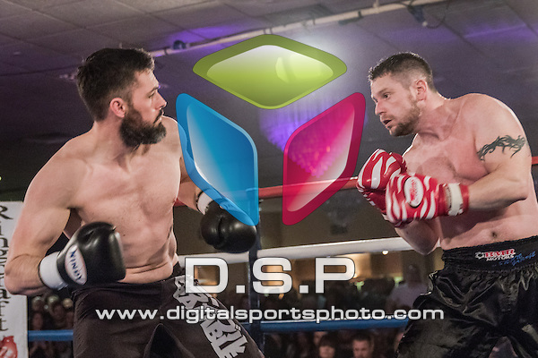 Ben Cunningham VS James Phillips. Photo by: Stephen Smith<br /> <br /> Total Collision 1 - Saturday 28th February 2015. The Carrington Hotel, Bournemouth, Dorset, United Kingdom.