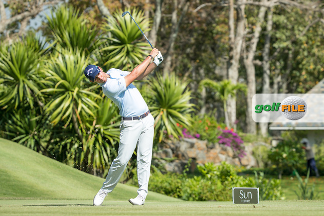 Matteo Manassero (ITA) during the 2nd round of the AfrAsia Bank Mauritius Open, Four Seasons Golf Club Mauritius at Anahita, Beau Champ, Mauritius. 30/11/2018<br /> Picture: Golffile | Mark Sampson<br /> <br /> <br /> All photo usage must carry mandatory copyright credit (© Golffile | Mark Sampson)