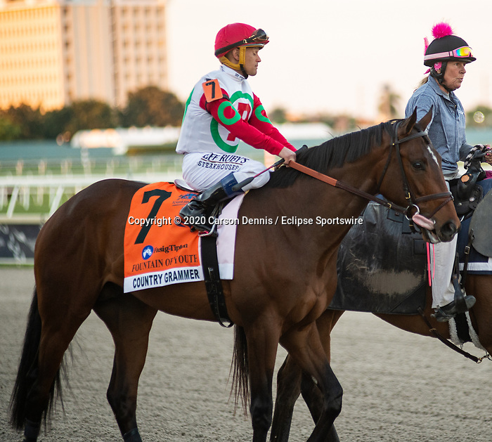 February 29, 2020: #11, ETE INDIEN and Jockey Florent Geroux make short work of the Grade II Fountain of Youth Stakes for Trainer Patrick Biancone at Gulfstream Park on February 29, 2020 in Hallandale Beach, FL. (Photo by Carson Dennis/Eclipse Sportswire/CSM)