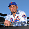 Wilson Ramos, newly-signed New York Mets catcher, poses for a portait shortly after his introductory news conference at Citi Field in Flushing. NY on Tuesday, Dec. 18, 2018.