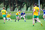 Michael F Russell Laune Rangersgets to the loose ball ahead DJ Murphy during their Division 3 clash in Killorglin on Saturday evening