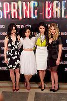MADRI, ESPANHA, 21 FEVEREIRO 2013 - SPRING BREAKERS PHOTO CALL - (E/D) Rachel Korine, Vanessa Hudgens, Selena Gomez e Ashley Benson durante sessao de fotos para promoção do filme Spring Breakers no Hotel Villamagna em Madri capital da Espanha, nesta quinta-feira, 21. (FOTO: MIGUEL CORDOBA / ALFAQUI / BRAZIL PHOTO PRESS).