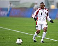 CARSON, CA - March 25, 2012: Curtis Gonzales (15) of Trinidad & Tobago during the Panama vs Trinidad & Tobago match at the Home Depot Center in Carson, California. Final score Panama 1, Trinidad & Tobago 1.