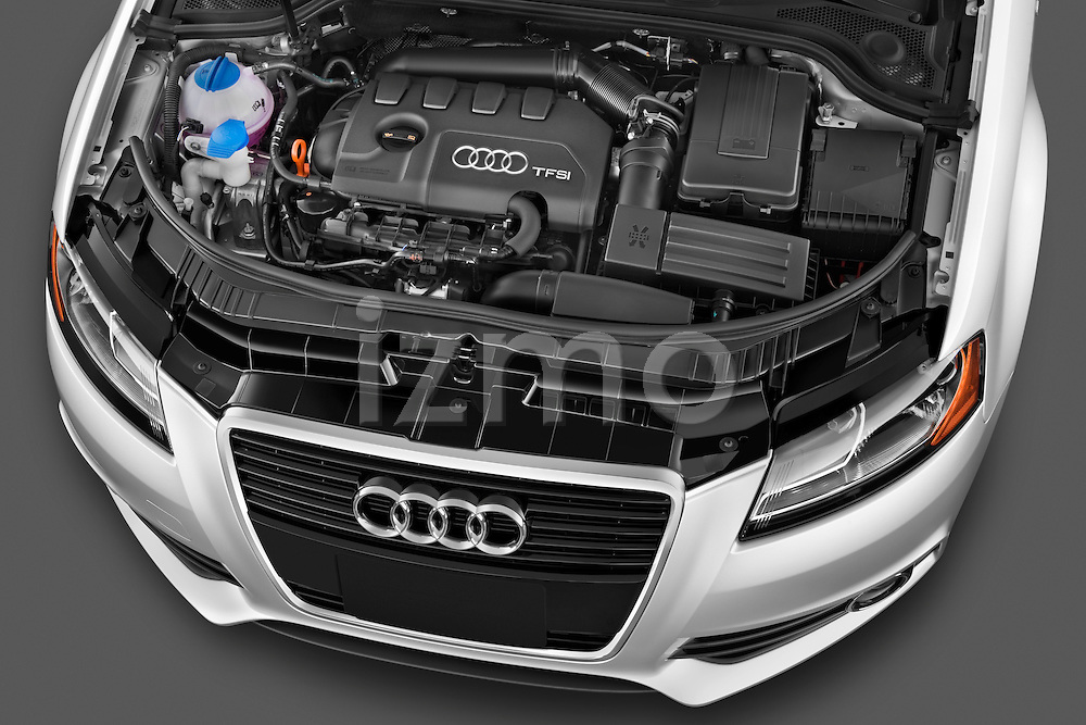 High angle engine detail of a 2003 - 2012 Audi A3 Premium Sportback Hatchback.