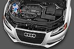 High angle engine detail of a 2003 - 2012 Audi A3 Premium Sportback Hatchback.