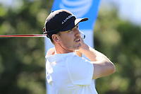 Jonas Blixt (SWE) tees off the 13th tee at Pebble Beach course during Friday's Round 2 of the 2018 AT&amp;T Pebble Beach Pro-Am, held over 3 courses Pebble Beach, Spyglass Hill and Monterey, California, USA. 9th February 2018.<br /> Picture: Eoin Clarke | Golffile<br /> <br /> <br /> All photos usage must carry mandatory copyright credit (&copy; Golffile | Eoin Clarke)