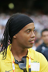 23 August 2008: Brazil's Ronaldinho. The Medal Ceremony for the Men's Olympic Football Tournament was held at the National Stadium in Beijing, China after the Gold Medal match.