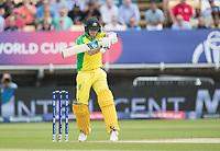 Steve Smith (Australia) pulls through wide mid wicket during Australia vs England, ICC World Cup Semi-Final Cricket at Edgbaston Stadium on 11th July 2019