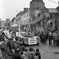 The St. Patrick's Day Parade makes its way down High Street and onto Main Street in 1978. Photo shows the Liebherr float..Picture by Don MacMonagle.www.macmonagle.com
