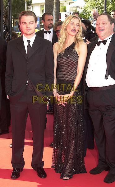 "LEONARDO DICAPRIO & CAMERON DIAZ.Screening of ""Gangs of New York"", Cannes Film Festival, France,.20th May 2002..full length black dress.Ref: PL.www.capitalpictures.com.sales@capitalpictures.com.©Capital Pictures."