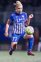 Allston, MA - Sunday, April 24, 2016: Boston Breakers player McCall Zerboni (77). The Boston Breakers play Seattle Reign during a regular season NSWL match at Harvard University.