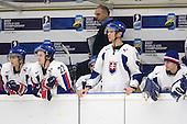 NAME, David Skokan (Rimouski Oceanic - Slovakia), NAME, Vladimir Klinga, Tomas Magusin (HC Hame Zlin - Slovakia), Jakub Macek (HC Slovan Bratislava - Slovakia) - The Suisse defeated Slovakia 2-1 in a 2007 World Juniors match on January 2, 2007, at FM Mattson Arena in Mora, Sweden.
