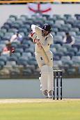 November 4th 2017, WACA Ground, Perth Australia; International cricket tour, Western Australia versus England, day 1; England player Mark Stoneman defends his wicket