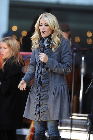 Carrie Underwood performs on Good Morning America's Fall Concert Series from Lincoln Center in New York City. November 3, 2009. Credit: Dennis Van Tine/MediaPunch