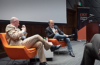 Rob McKay '86, Obama Scholars Advisory Council member, at left.<br /> Occidental College hosts the second speaker of the Obama Scholars Program Speaker Series, Ben Rhodes, former deputy national security advisor to President Barack Obama '83 on April 18, 2019 in Choi Auditorium. Rhodes signed copies new memoir, The World As It Is, after his talk.<br /> Ben Rhodes served as deputy national security advisor to President Barack Obama for eight years, overseeing the administration's national security communications, public diplomacy, global engagement programming and speechwriting. Prior to joining the Obama administration, Rhodes served as a senior speechwriter and foreign policy advisor to the Obama campaign. Before joining then–Senator Obama's campaign, he worked for former Rep. Lee Hamilton from 2002 to 2007. He was the co-author, with Thomas Kean and Lee Hamilton, of Without Precedent: The Inside Story of the 9/11 Commission. A native New Yorker, Rhodes has a BA from Rice University and an MFA from New York University.<br /> (Photo by Marc Campos, Occidental College Photographer)