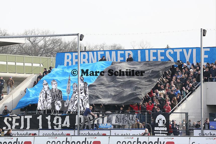 Choreo der FSV Fans - FSV Frankfurt vs. SV Darmstadt 98, Frankfurter Volksbank Stadion