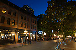 Views of the historic Gastown neighborhood in downtown Vancouver, British Columbia, Canada