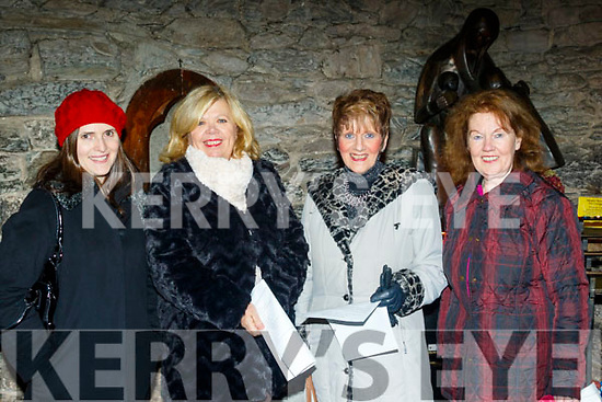 L-R Aine Barry&Jill Burton, Dingle, with Helen Geaney&Mary Murphy, Fossa, Killarney, attending the New Dingle Choir&Orchestra performance in St Mary's church in the town on December 22nd.