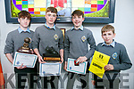 At the CBS The Green First Year annual awards on Thursday were l-r David Moriarty, Armin Heinrich, Ruairi O'Connell and Rokas Lekavicius