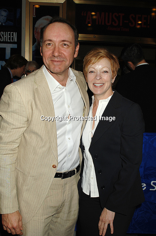 "Kevin Spacey and Frances Fisher..arriving for The Broadway Opening Night of ""Frost/Nixon""..on April 22, 2007 at The Bernard B Jacobs Theatre. ..Robin Platzer, Twin Images"