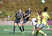 Christine Sinclair on the play. FC Gold Pride defeated the Philadelphia Independence 4-0 to win the 2010 WPS Championship at Pioneer Stadium in Hayward, California on September 26th, 2010.