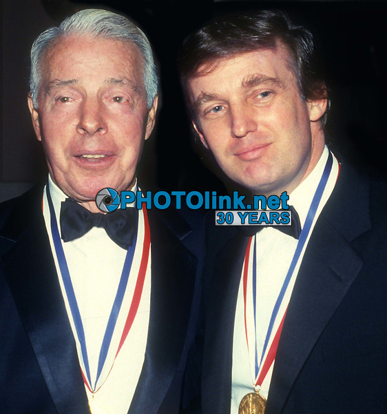 Joe DiMaggio and Donald Trump received the Ellis Island Medal of Honor in 1986<br /> Photo By John Barrett/PHOTOlink