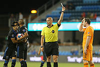 SAN JOSE, CA - JUNE 26: Referee Robert Sibiga during a Major League Soccer (MLS) match between the San Jose Earthquakes and the Houston Dynamo on June 26, 2019 at Avaya Stadium in San Jose, California.