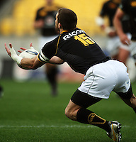 Wellington fullback Cory Jane drops a high ball. Air NZ Cup - Wellington Lions v Manawatu Turbos at Westpac Stadium, Wellington, New Zealand. Saturday 3 October 2009. Photo: Dave Lintott / lintottphoto.co.nz