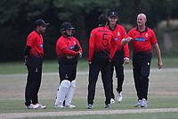 Hornchurch claim the sixth Buckhurst Hill wicket during Hornchurch CC vs Buckhurst Hill CC (batting), Essex Cricket League Cricket at Harrow Lodge Park on 25th July 2020