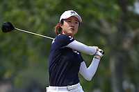 Yu Liu (CHN) watches her tee shot on 5 during round 4 of the 2019 US Women's Open, Charleston Country Club, Charleston, South Carolina,  USA. 6/2/2019.<br /> Picture: Golffile | Ken Murray<br /> <br /> All photo usage must carry mandatory copyright credit (© Golffile | Ken Murray)