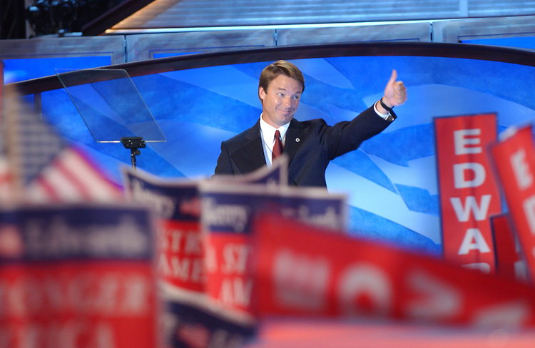 7/28/04.2004 DEMOCRATIC NATIONAL CONVENTION--Vice presidential candidate John Edwards speaks during the Democratic National Convention. .CONGRESSIONAL QUARTERLY PHOTO BY SCOTT J. FERRELL.
